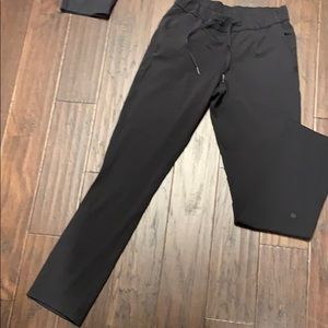 On the fly full length pants